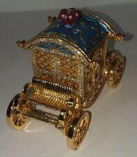 Jeweled Crown Carriage Box Car Treasure Wedding Jewelry Ring Charm Accessories