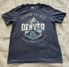 UFC DENVER COLORADO 25 Years Silver Salute Licensed Event Shirt Large 25th Gray
