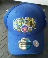 New Era 39THIRTY Sm Med Chicago Cubs World Series Champions 2016 Hat Blue