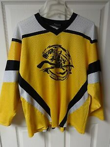 Vintage Minor League Hockey Charleston Thunder #12 Jersey Youth XL Black Biscuit