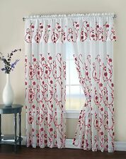 Regal Home Collections Malta Curtain Panel With Valance - Assorted Colors