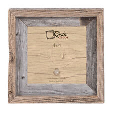"""4x4 - 2"""" Wide Signature Reclaimed Rustic Barn Wood Photo Frame"""