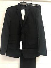 Versace Black Wool Two Button Suit US SZ 42R EU SZ 52R $895