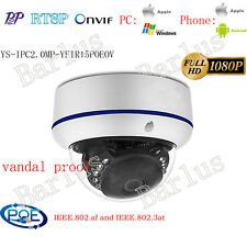 Outdoor Mini HD 1080P POE IP Dome Camera IP66 Onvif IR Security CCTV Network P2P