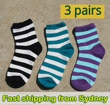 Stripey sock set 3 pairs stripe colour socks