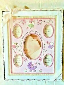 Baby Essentials Welcome Little Princess Photo Frame New Sealed Pink Faries