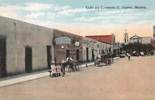 CALLE DEL COMERCIO C. JUAREZ MEXICO POSTCARD (1923)