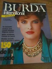 MAGAZINE BURDA INTERNATIONAL  150 HITS DE LA MODE PRINTEMPS/ETE 1985