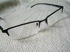 """Foster Grant """"Defoe Tech"""" Unisex Metal Half Framed Reading Glasses"""