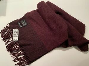 Jos A Bank Wool Cashmere Blend Knit Scarf. Burgundy. New with tags