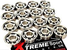 *16 Pack 627 CLASSIC OPEN STYLE BEARINGS ROLLER SKATE 7mm + STICKER