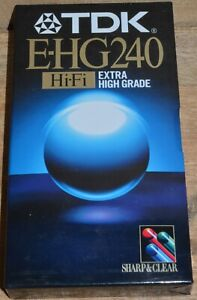 TDK E-HG240 Hi-Fi Extra High Grade VHS Tape - New and Sealed