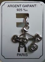 pendant 0.925 Sterling Silver Road Bycicle Charm pendant