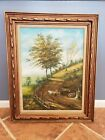 Oil painting on canvas framed signed