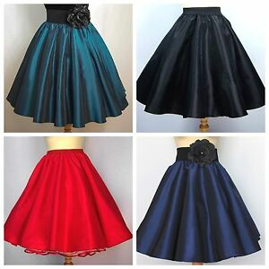 Tellerrock Petticoat-Rock Tanzrock 50er Rockabilly Tanzkleid rot schwarz blau
