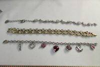 "Lot of 4 Signed Swarovski Crystal Silver and Gold Bracelets 7.25""-8.5"" AS-IS 2U4"