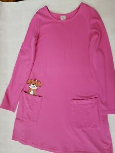Hanna Andersson Girls Pink Dog Dress Size 12 Good Used Condition