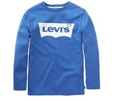 Levi's Kids Boy's Ls-tee Nos T-Shirt Blue Size A5