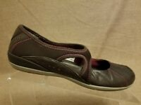 Merrell Plie Coffee Bean Women Brown Loafers Leather Mary Jane Slip On Shoes 7.5