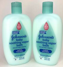 Johnson's Baby Soothing Vapor Bath 15 Oz 2 Pack New