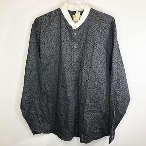 NEW Vintage WAH Maker Men's  Arizona True West Long Sleeve 3/4 Button Sz L