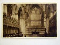 Beverley Minster, Choir east old postcard