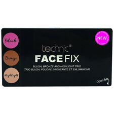 Technic Makeup Trio Visage Fix Blush Bronze and Highlighter Highly Pigmented Kit