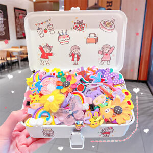14PCS Girls Cute Colorful Cartoon Flower Hairpin Kids Sweet Hair Clips Barrettes