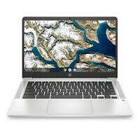 """NEW HP Chromebook 14"""" HD Intel Pentium Silver N5000 4GB RAM 64GB eMMC Webcam BT"""