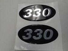 """CABRIO 330 RAISED BOAT DECAL PAIR (2) 3 3/8"""" X 6 5/8"""" MARINE"""