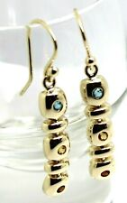 **Kaedesigns New 9CT YELLOW GOLD THREE STONE EARRINGS