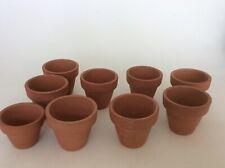 9 Terracotta Small Plant Pots  5 cm - Craft -