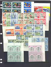 More details for jamaica sg181-96 +187a,189a 1962 defins +  2 extra varieties in blocks of 4 mnh