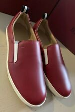 New $510 Bally Men Orniel Leather Sneakers Shoes Red 11 US Switzerland