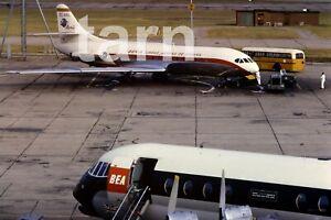 35mm slide aeroplane airplane London airport Heathrow Iberia 1960s r188