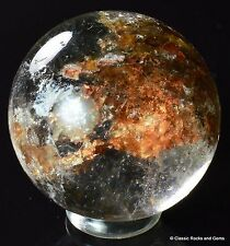 Quartz BALL HEMATITE chlorite quartz gemstone sphere chlorites 25.7 MM