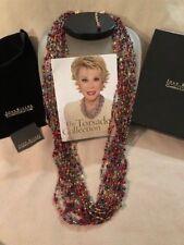 """Joan Rivers torsade necklace in jeweltones 36"""" new"""