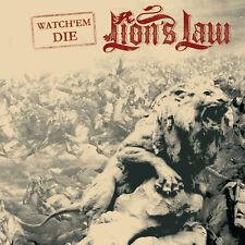 "LION'S LAW Watch Em Die 7"" - new BLACK Vinyl - French Oi! Punk Maraboots Rixe"