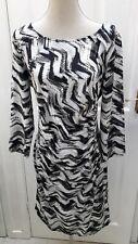 Ladies women summer dress size 16 by Savoir mulit colour jersey stretch fabric