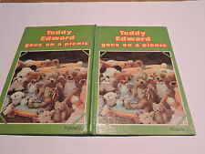 cute TEDDY EDWARDS GOES ON A PICNIC real pictures of many teddy bears M MATTHEWS