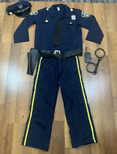 Police Officer Costume Youth Medium 5 Piece Combo Complete Set