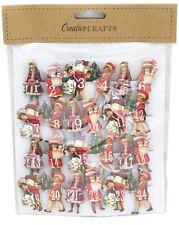 Número de Artesanía de Navidad de Madera Calendario de Adviento Clavijas ~ Niños Victoriano