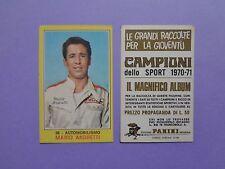 FIGURINA PANINI CAMPIONI DELLO SPORT AUTOMOBILISMO N.56 ANDRETTI 1970-71 NEW-FIO