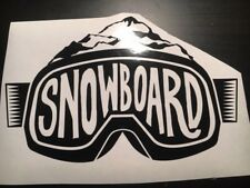 Snowboarding Car Decal 200Wide BLACK