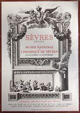 Affiche Exposition SEVRES Musée National de Céramique de Sèvres MOURLOT 1956