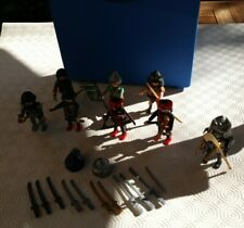 Playmobil Japanese Samurai Soldiers in carry case.
