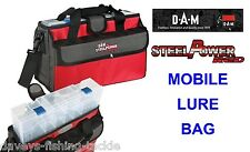 DAM STEELPOWER RED MOBILE LURE BAG+TACKLE BOX+LURE TUBES FOR SPINNERS SPOONS ETC