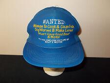 VTG-1980s Woman Wanted Fishing Fisherman Motor funny joke trucker hat sku28