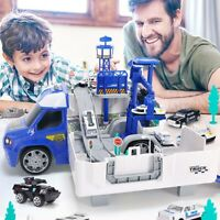 Railway Racing Tracks Electric Car Toys Parking Truck Track Toys for Boys Gift