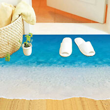 3D Wall Stickers Starfish Footprint Beach Bathroom Floor Sea Kids Poster Decor